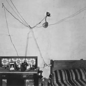 Bedroom of railway worker, De Aar, 1984