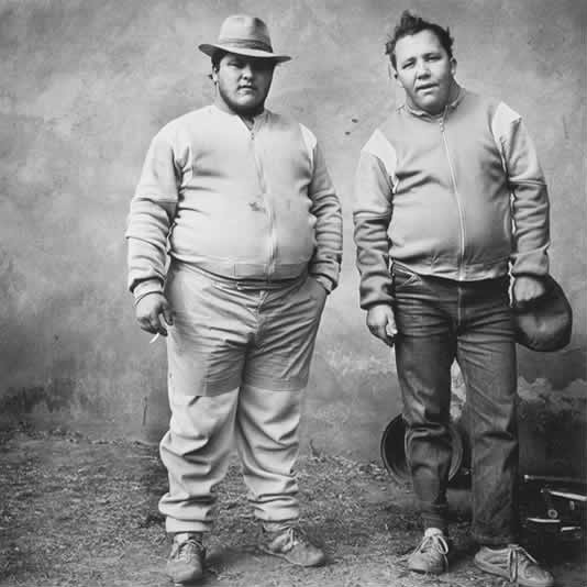 Johan and Bertie, brothers, Western Transvaal, 1987